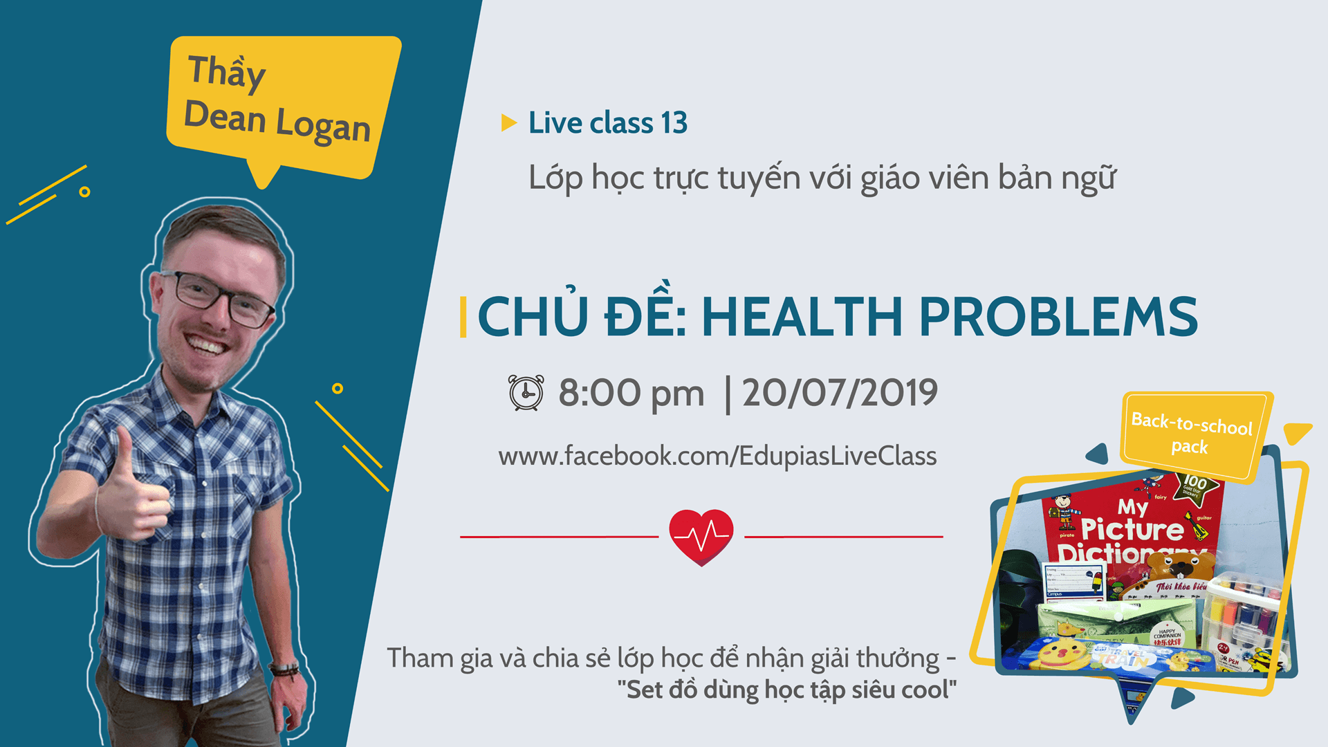 Live class tuần 13 - Chủ đề: HEALTH PROBLEMS