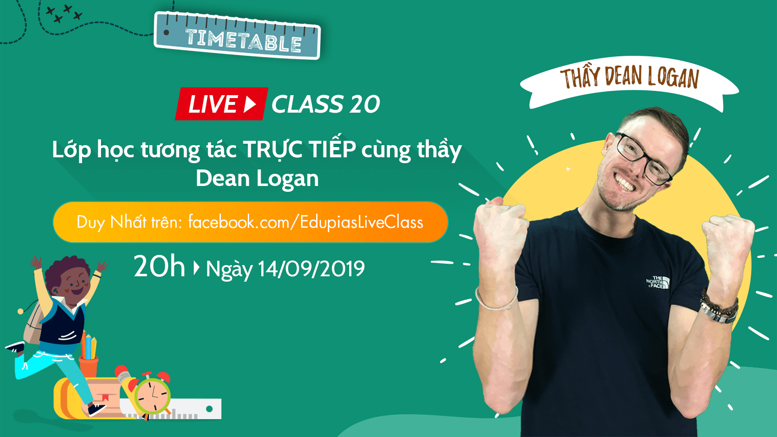 Live class tuần 20 - Chủ đề: School Subjects - Making a timetable