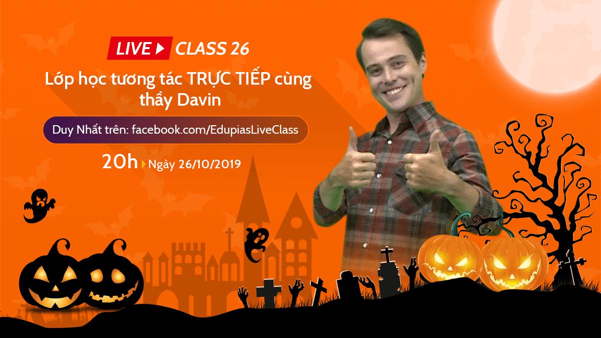 Live class tuần 26 - Chủ đề: Halloween Party