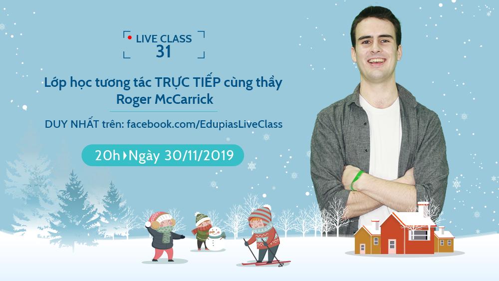 Live class tuần 31 - Chủ đề: Winter